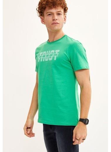 DeFacto Tişört Yeşil